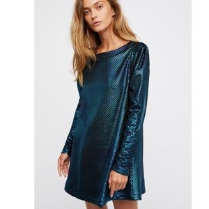 FREE PEOPLE | Diamonds Are Forever metallic shift